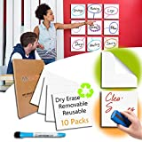 Dry Erase White Board Professional Reusable Small Dry Erase Board, Self-Stick Waterproof Whiteboard Labels...