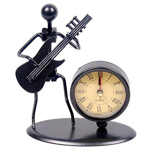 Estatua del Músico Relojes de Escritorio (Guitarra Electrica)