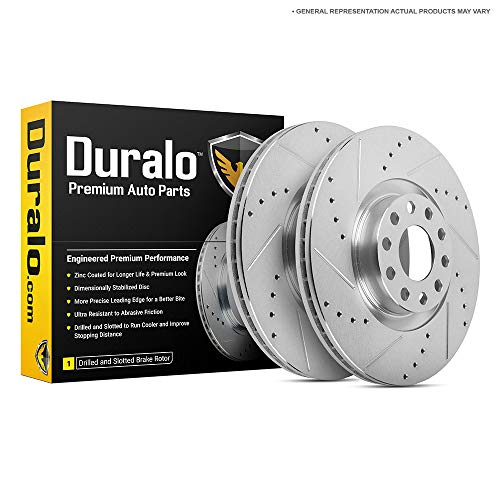 Duralo Front Brake Rotor Set For Audi A8 D2 2000 2001 2002 2003 - Duralo 152-2250 New