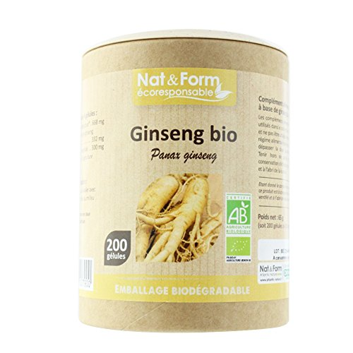 Nat&form Ginseng Bio 200 Gelules