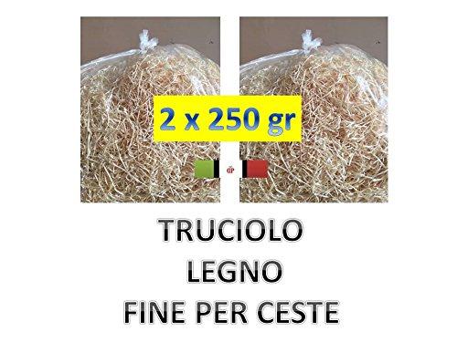 TRUCIOLO PAGLIA FINE LEGNO 2 PACCHI da 250GR paglia naturale per ceste natalizie e confezioni regalo