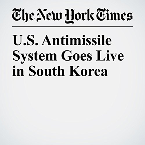 U.S. Antimissile System Goes Live in South Korea copertina