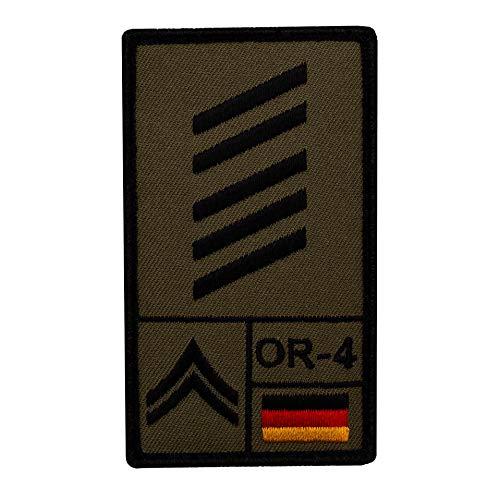 Café Viereck ® Oberstabsgefreiter Bundeswehr Rank Patch mit Dienstgrad - Gestickt mit Klett – 9,8 cm x 5,6 cm