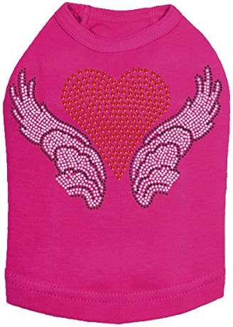 Heart with Wings Department Max 84% OFF store #2 - 3XL Dog Fuchsia Shirt