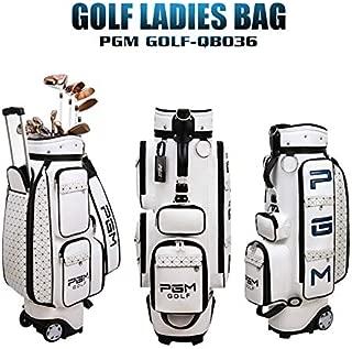 PGM Women Wheeled Golf Stand Carry Bag -PU Golf Clubs Bag