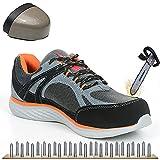 Zapatos de seguridad transpirables para hombre Zapatos de trabajo con punta de acero con cabeza de acero anti-pinchazos Zapatillas de deporte ocasionales para alpinismo Zapatillas protectoras,42