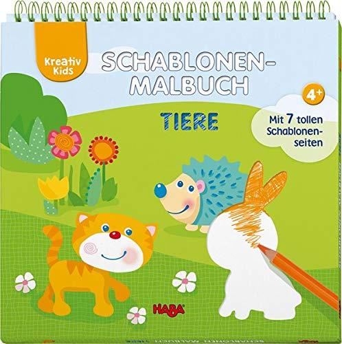 Kreativ Kids – Schablonen-Malbuch Tiere