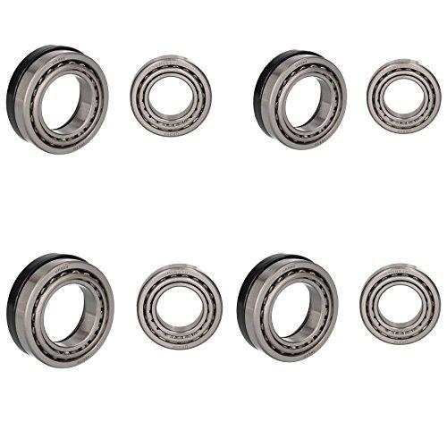 AB Tools Remorque 4 Kits de roulement à Rouleaux Coniques à fûts 250 x 40