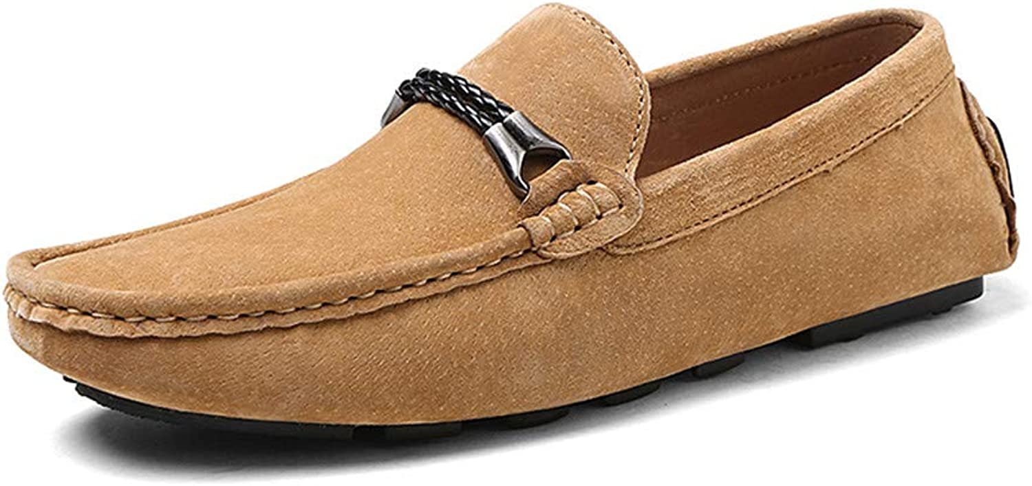 Easy Go Shopping Men's Driving Loafers are Casual and Comfortable with Light British Style Boat Moccasins Cricket shoes