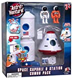Astro Venture Space Playset - Toy Space Capsule & Space Station with Lights and Sound & 2 Astronaut Figurine Toys for Kids