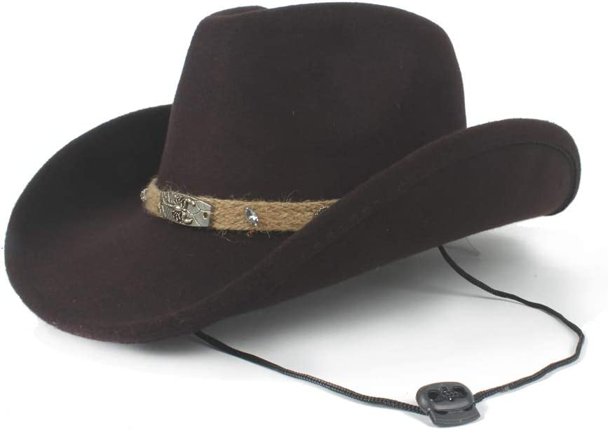 Women New item Men Unisex Wool Hollow Western Ro Gentleman Cowboy Super-cheap Hat for