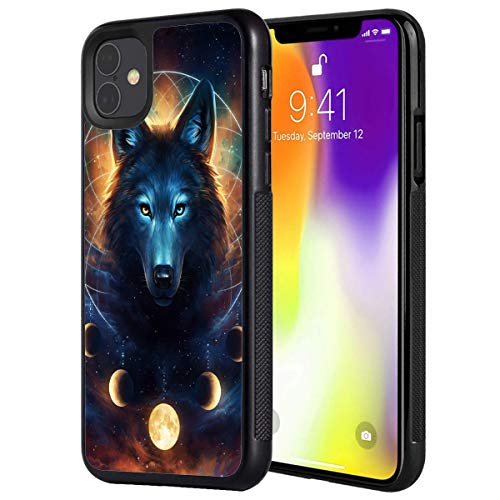 iPhone 11 Case,Vobber Slim Anti-Scratch Architecture TPU Shockproof Protective Case Cover for iPhone 11 6.1 inch 2019,Galaxy Wolf