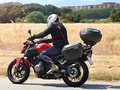 SHAD D0B23100 Maletas Laterales Moto SH23, Negro, Normal