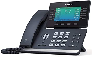 Yealink T54W IP Phone, 16 VoIP Accounts. 4.3-Inch Color Display. USB 2.0, 802.11ac Wi-Fi, Dual-Port Gigabit Ethernet, 802.3af PoE, Power Adapter Not Included (SIP-T54W)