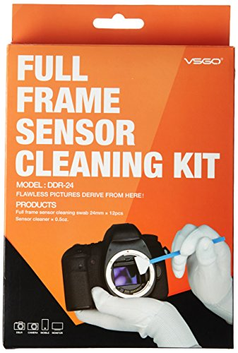 UES DSLR Digital Camera Full Frame (CCD/CMOS) Sensor Swab DDR-24 Kit (Box of 12 X 24mm Swab + 15ml Sensor Cleaner)