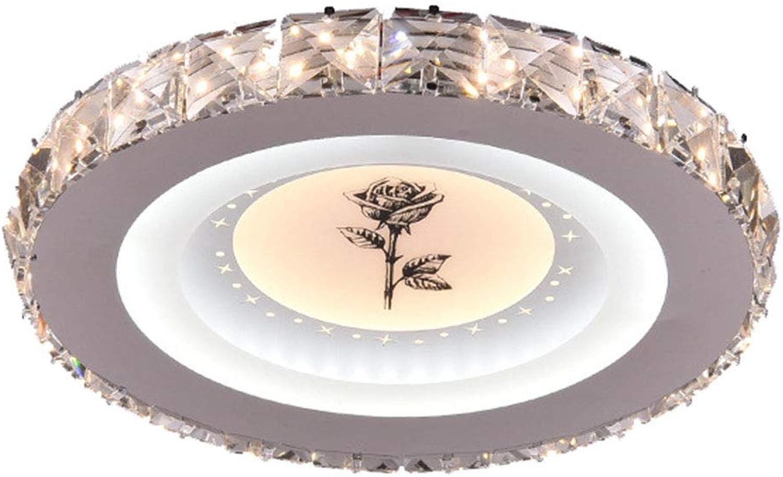 LED-Deckenleuchte Deckenlampe Europische Runde Kristall Deckenlampe, Deckenbeleuchtung für Wohnzimmer, Schlafzimmer, Lobby, Hotel (25cm-24Watt)