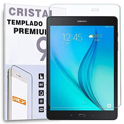 REY Protector de Pantalla para Samsung Galaxy Tab A 9.7' T550 T555 Cristal Vidrio Templado Premium