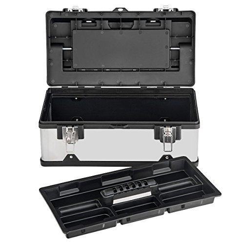 COSTWAY Werkzeugkasten Werkzeugbox Werkzeugkiste, Aufbewahrungsbox für Mehrfach-Werkzeugsätze, Mehrzweck-Werkzeugkoffer mit Griff für Zuhause, Garage, Handwerker