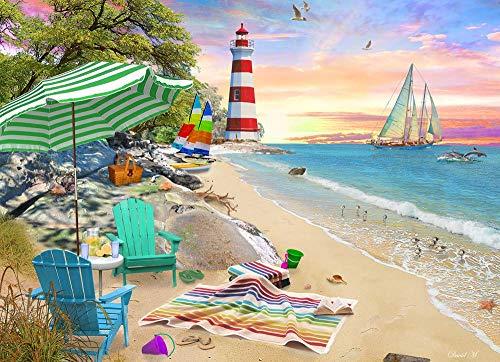 BAOZHEN 1000pcs Puzzle Rompecabezas Puzzle Creativo Puzzle Vermont Company Seaside Beach para Infantiles Adolescentes Creativo Rompecabezas Navidad