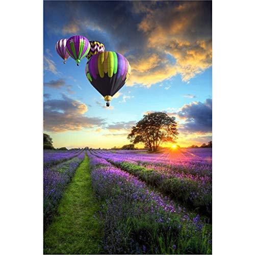 520/1000/1500/2000/3000/5000 Piece Jigsaw Puzzel for Volwassenen, Lavendel en hete luchtballon, Kids Puzzels Speelgoed - Goede Educatief Puzzels Spelletjes for jongeren
