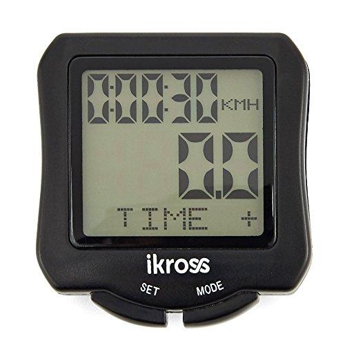 iKross Ordenador para Bicicleta, Impermeable Cuantakilometro,Velocímetro Inamlambrico para Ciclismo,