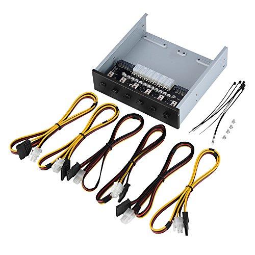 Nunafey Interruptor de alimentación de plástico + Metal Interruptor de Encendido con 6 interruptores de Bloqueo automático Interruptor, Interruptor de alimentación de Disco Duro, hogar para PC para