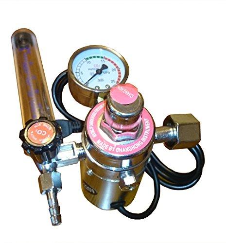 Druckminderer Argon CO2 Regulator Druckregler + Flowmeter Rotameter Heizung 220V