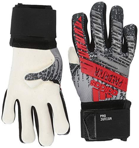 Adidas Junior Predator Pro - Guanti da portiere da calcio, Unisex - Adulto, Guanti da portiere, F1906GL031, Argento metallizzato/nero., 4