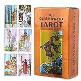 Versión En Inglés 78 Hojas De Cartas De Adivinación Rider Waite Tarot Decks Juguetes De Adivinación para Fiesta Familiar Juego De Mesa Interactivo