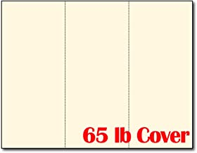 3up 65lb Cream Menu Cards/Connection Cards/Rack Cards - 25 Sheets / 75 Pieces