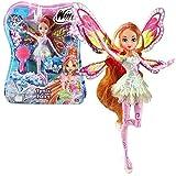 Winx Club Flora | Tynix Fairy Puppe Fee mit magischem Gewand | Staffel 7