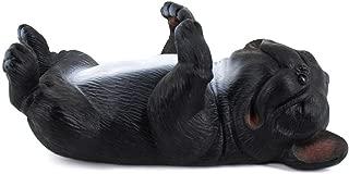 Van Caro Funny Animal Pattern Resin Eyeglass Holder Cell Phone Stand for Desk, Black Dog
