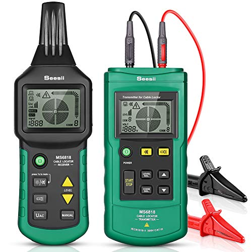 MS6818 Wire Tracker, Portable Telephone Cable Locator, Underground Pipe Wire Detector, Professional Cable Toner Finder, Electrical Circuits, Pipelines, Fuses, Switches, Short Circuits Finder