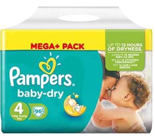 Pampers Baby Dry Gr.4 Maxi 7-18kg Mega Plus Pack, 96 Stück