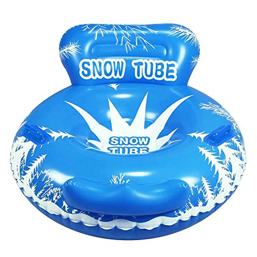 SYue Tubo de Nieve de Invierno, Trineo Inflable, Tubo de Nieve Inflable Resistente a la congelación Resistente con congelación con Asas, para niños y Adultos de Nieve de Invierno