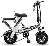 Bicicleta electrica Bicicletas eléctricas rápidas para adultos Bicicleta eléctrica plegable, velocidad máxima 30 km / h con ruedas de 12 pulgadas Mini portátil y pequeña batería de litio plegable para