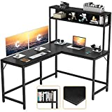 CubiCubi L-Shaped Desk with Hutch,59' Corner...
