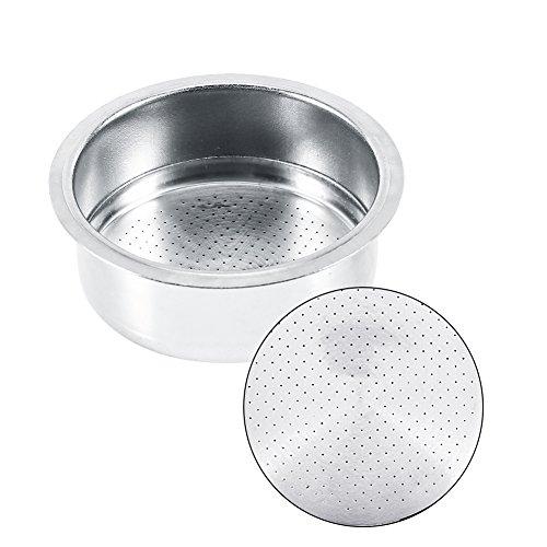 Café 2 Taza 51mm No recipiente del filtro a presión para Breville Delonghi Krups