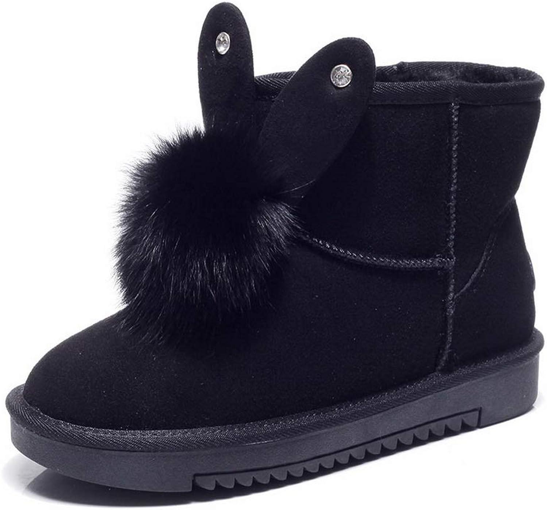 AdeeSu Womens Pom-Poms Imitated Suede Boots SXC03825