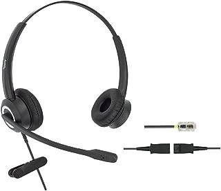 DailyHeadset RJ9 Corded Office Phone Headset HD Voice Compatible Cisco IP Phones 7940 7942 7960 7962 8811 8841 8845 8851 8861 8961 9951 Series Model (Binaural)