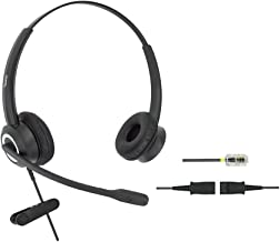 DailyHeadset RJ9 Corded Office Phone Headset HD Voice Compatible Cisco IP Phones 7940 7942 7960 7962 8811 8841 8845 8851 8861 8961 9951 Series Model (Binaural)