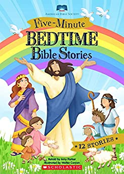 Five-Minute Bedtime Bible Stories by [Amy Parker, Walter Carzon]