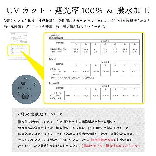 [マコッカ]完全遮光UVカット99.9%以上超撥水耐風骨晴雨兼用折りたたみ傘55cmmakez.2本ラインネイビー