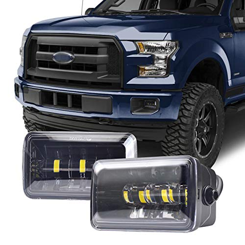 Tecoom Fog Lights Set of 2 for Ford F150 2015-2018 Aprroved by DOT SEA Waterproof Bright 2200 lumen LED Fog Driving Light Road Off Lights