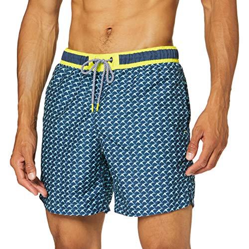 ESPRIT Bodywear Herren FAROS Bay Woven Shorts 42 cm Boardshorts, 401/NAVY 2, XXL