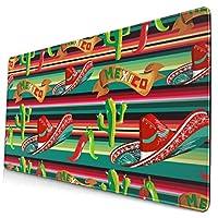 メキシコフィギュア マウスパッド 40×75 大判 ノンスリップ 防水 ゲーミング おしゃれ マウスの精密度を上がる