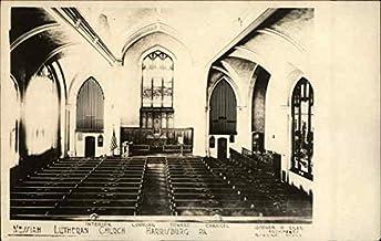 Interior, Messiah Lutheran Church Harrisburg, Pennsylvania PA Original Vintage Postcard