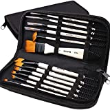 Professional Artist Paint Brush Set of 12 Includes...