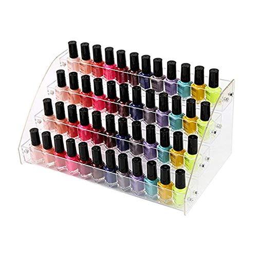 Organizador de cosméticos para esmalte de uñas, soporte de acrílico para esmalte de uñas, organizador de botellas de aceite, organizador de maquillaje, para botellas, 4 pisos