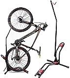 JAPUSOON Bike Rack Upright Bike Storage Stand Adjustable Bicycle Carrier,Front Wheel/Rear Wheel/Vertical Floor